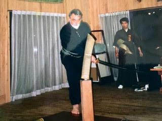 a lezione di Battodo a Kodama dal mio maestro il Soke Yamaguchi Doliu Keisuke