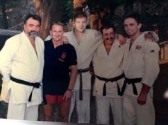 con la squadra olimpica inglese