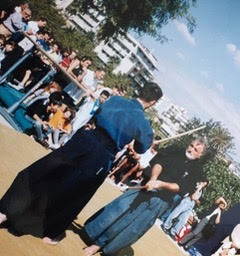 Edo e Junio alla Villa Bellini in Kendo no Kata