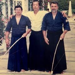 Foto 33° corso Acc. Naz. Judo Edo e Alfreda Vismara Edo Kasahara sensei e Marcello