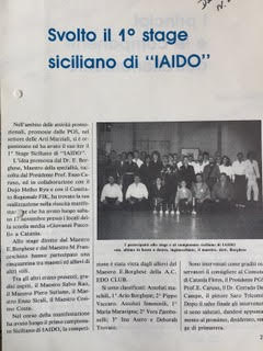 il primo stage di Iaido a Catania