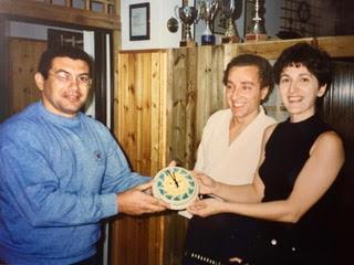 Momento della premiazione Marcello Angela e il nostro Vittorio