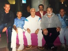 Tanti anni fa a Sportilia con Yamasaki Masahiro - Vittorio, Francesco, Mario, Edo e Toni
